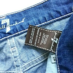 7 For All Mankind Shorts - 7 For All Mankind Distressed Jean Shorts